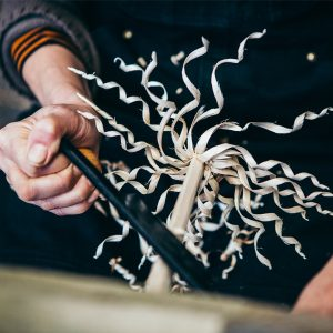 The Gypsy flower is carved from a hazel stick using a 2 handled drawknife. You can learn to make this hand carved wooden flower in a workshop. It makes a beautiful natural ornament. Perfect for a Valentines gift or ethical gift anytime