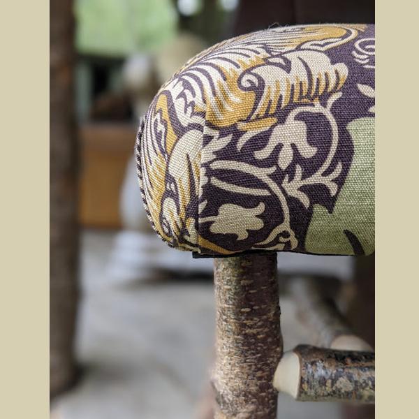 corner detail of footstool